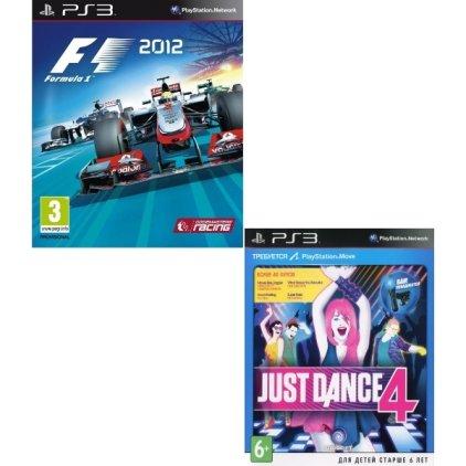 Игра для PS3 F1 2012 + Just Dance 4 (с поддержкой Move)