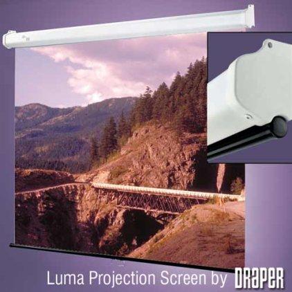 """Экран Draper Luma HDTV (9:16) 185/73"""" 91*163 MW (XT1000E) ebd 12"""" case white 207092"""