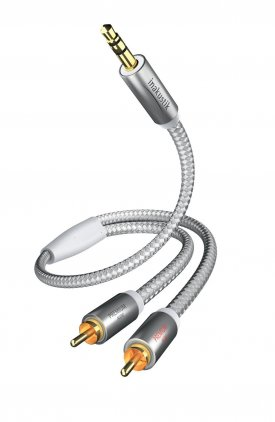 Кабель межблочный In-Akustik Premium MP3 3.5 мм <> 2RCA 3.0m #00410003
