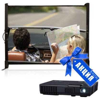 "Комплект Проектор NEC NP-L102WG + Экран Draper Microscreen NTSC (3:4) 102/40"" 61*81 XT1000E (MW)"