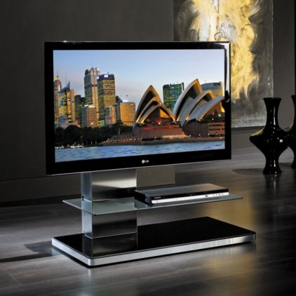 Стойка под телевизор Munari SY 341 NE с подсветкой (Черное)