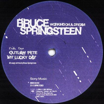 Виниловая пластинка Bruce Springsteen WORKING ON A DREAM