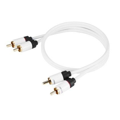 Кабель межблочный Real Cable 2RCA-1 1.0m