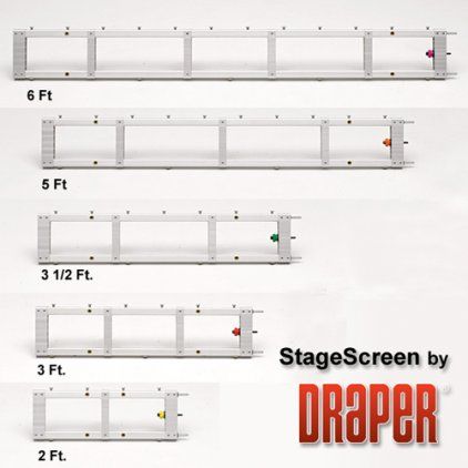 "Экран Draper StageScreen HDTV (16:9) 838/330"" 411*732 BM1300 (black backed, no legs)"