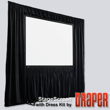 "Экран Draper Stagescreen NTSC (3:4) 1143/450"" 686*914 BM1300 (black backed)"