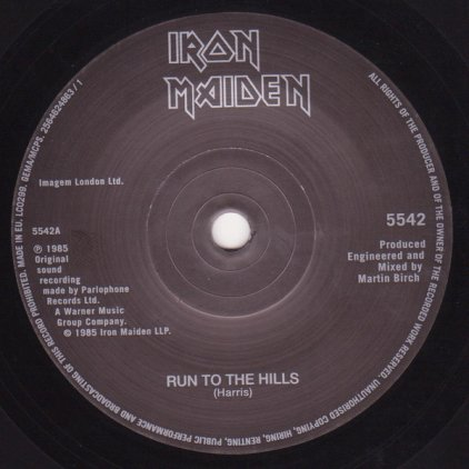 Виниловая пластинка Iron Maiden RUN TO THE HILLS (LIVE) (Limited)