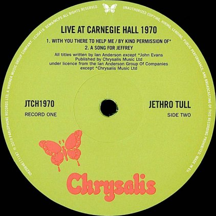 Виниловая пластинка Jethro Tull LIVE AT CARNEGIE HALL 1970 (180 Gram)