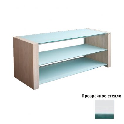Подставка Akur Классик 1000 (белый + прозрачное стекло + беленый клен)