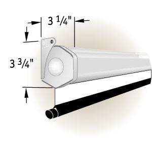 """Экран Draper Luma HDTV (9:16) 185/73"""" 91*163 HCG (XH800E) ebd 12"""" case white"""