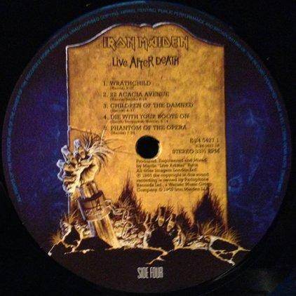 Виниловая пластинка Iron Maiden LIVE AFTER DEATH (180 Gram)