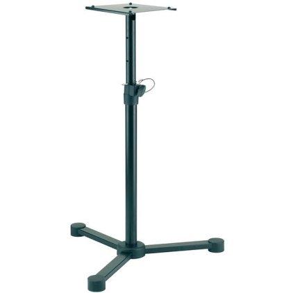 Стойка K&M K&M 26720-000-55 стойка для студ. мониторов, регулируемая высота h 680 - 1140 мм, сталь, черная