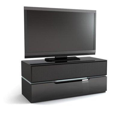 Подставка под телевизор MD 555.1221 Planima (черный/дымчатое стекло)