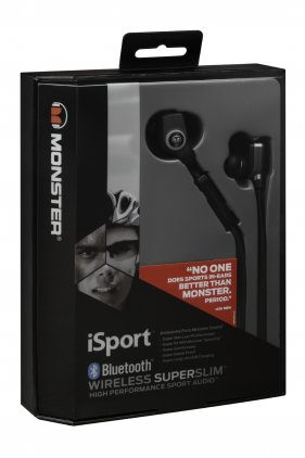 Наушники Monster iSport Bluetooth Wireless SuperSlim In-Ear black (137035-00)