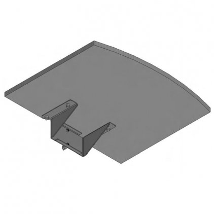 Полка с консолью SMS Flatscreen shelf M/L grey
