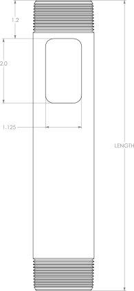 "Штанга Chief CMS003 white Fixed Extension Column 3"""