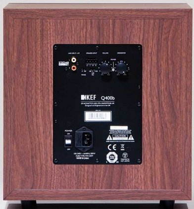 Сабвуфер KEF Q400B Walnut EU vinyl