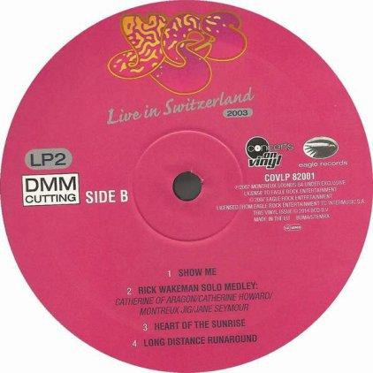 Виниловая пластинка Yes LIVE IN SWITZERLAND (180 Gram)
