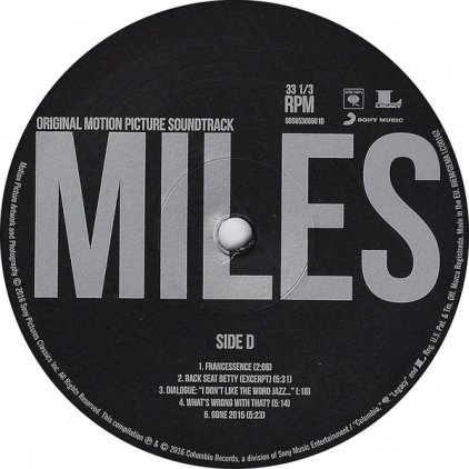Виниловая пластинка Miles Davis MILES AHEAD (ORIGINAL MOTION PICTURE SOUNDTRACK) (Gatefold)