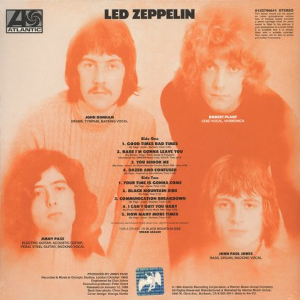 Виниловая пластинка Led Zeppelin LED ZEPPELIN (Remastered/180 Gram)