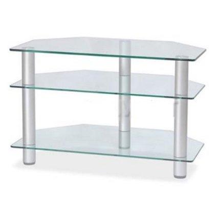 Подставка MD Flatform TV 11 (серебро/прозрачное стекло)