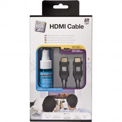 HDMI кабель Monster JHIU CLN HDMI-6 EU, HDMI 1.5 м. + жидкость для очистки экранов (132628-00)