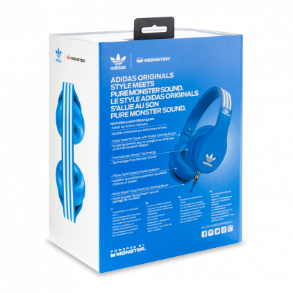 Наушники Monster Adidas Originals Over-Ear Headphones Blue (137011-00)