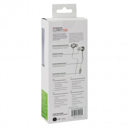Наушники Monster Clarity HD High Definition In-Ear Headphones White (128666-00)