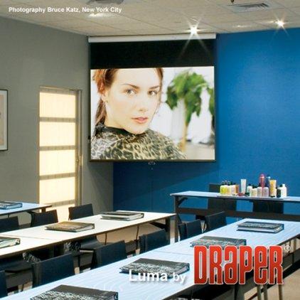 """Экран Draper Luma HDTV 106"""" MW case white (9:16, 132*234) 207101"""