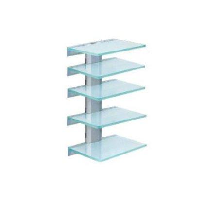 Полка настенная Antall install-07/5 (серебро/матовое стекло)