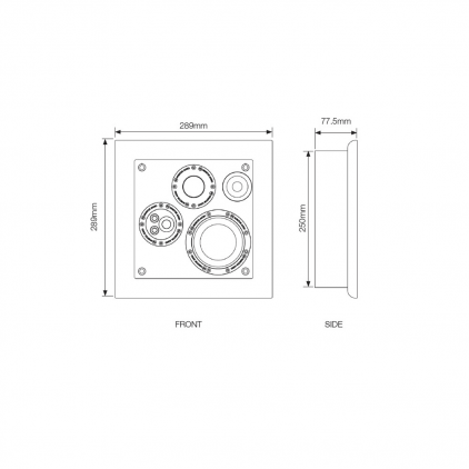 Встраиваемая акустика Monitor Audio SoundFrame 3 In Wall white