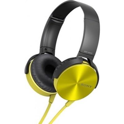 Наушники Sony MDR-XB450AP yellow