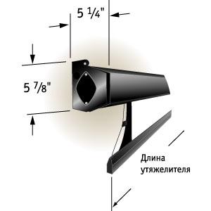 """Экран Draper Premier HDTV (9:16) 302/119"""" 147*264 HDG (XH600V) ebd 25"""" case black"""