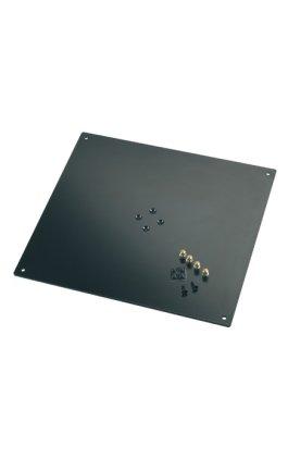 Стойка K&M K&M 26792-042-56 площадка-стол для студийных мониторов к стойке 26795, р-р 5х420х380, 4 шипа и 4 ножки в комплекте, сталь,чёрная
