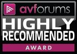 AV Forums Highly Recommended Award