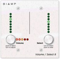 Панель управления мультирум Biamp VOLUME/SELECT 8