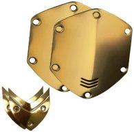 Сменные накладки для наушников V-Moda WIRELESS/M-100/LP2 Over-Ear Metal Shield Kit Gold
