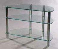 Подставка MD 402 Slim (хром/дымчатое стекло)