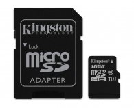 Kingston microSDHC 16Gb Class10 SDC10G2/16GB + adapter