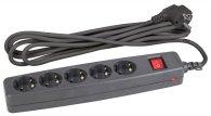 Сетевой фильтр ЭРА SF-5es-4m-B (черный)