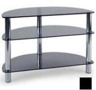 Мебель MD 404 Slim (черный/дымчатое стекло)