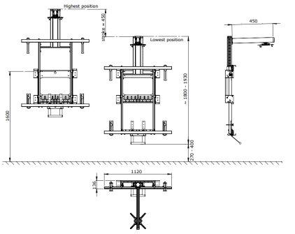 Крепление для проектора SMS Projector Short Throw Wall Manual (450 мм)