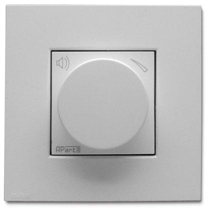 Панель APart N-VOLST Встраиваемый стереофонический аттенюатор громкости цвет - белый.