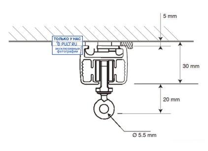 Умные шторы Somfy Карниз с электроприводом Glydea 35 DCT/ WT длина 0.7 м