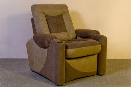 Кресло для домашнего кинотеатра Home Cinema Hall Classic Консоль увеличенная с баром (охлаждающий элемент в комплекте) ALCANTARA/120