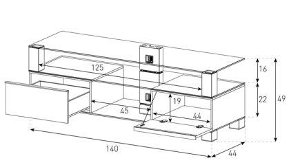 Подставка под телевизор Sonorous MD 9140-C-INX-BLK