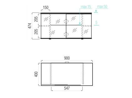 Подставка MD 519.0910 (черный/дымчатое стекло)