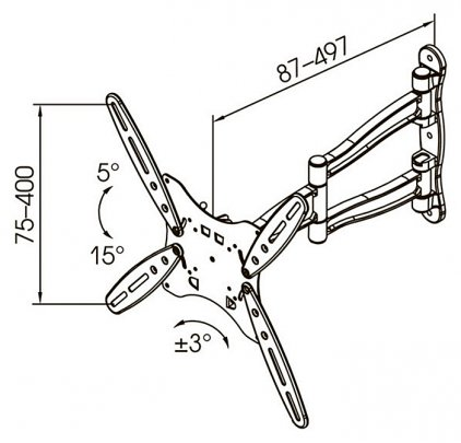 Кронштейн для телевизора Kromax Techno-5 серый