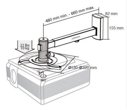 Крепление для проектора NorStone Proje-W