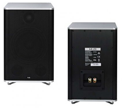 Акустическая система T+A KR 450 black cabinet with silver aluminium covers