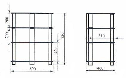 Подставка под аппаратуру Март Hi-Fi (черный/черное стекло)